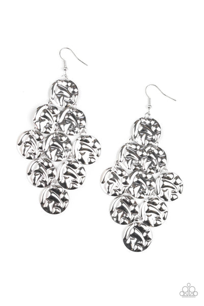 Paparazzi Metro Trend - Silver Earrings - Princess Glam Shop