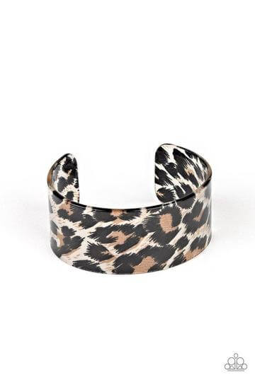 Paparazzi Top Cat - Brown Acrylic Cuff Bracelet - Princess Glam Shop