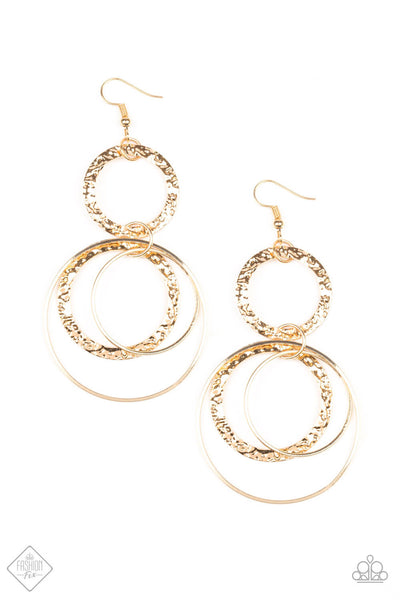 SOLD OUT Paparazzi Eclipsed Edge - Gold Earrings - Princess Glam Shop