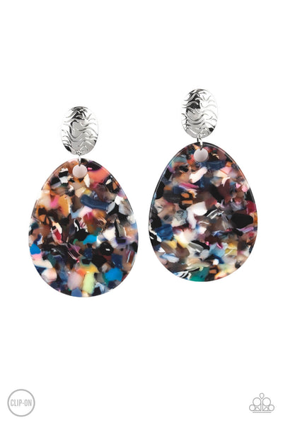 Paparazzi Confetti Collage - Multi Clip-On Earrings - Princess Glam Shop