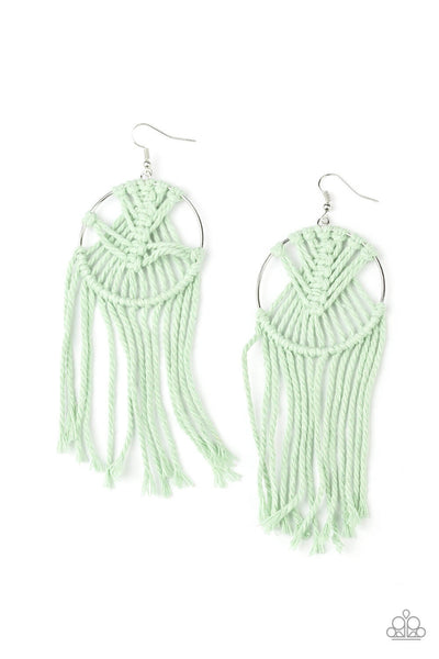 MACRAME, Myself, and I - Green Earrings - Princess Glam Shop