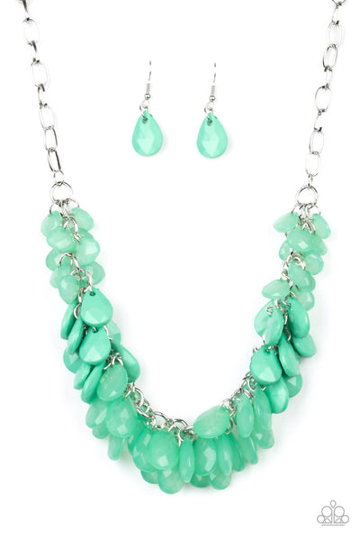 Paparazzi Colorfully Clustered - Green Necklace Set - Princess Glam Shop
