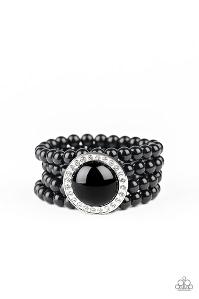 Paparazzi Top Tier Twinkle - Black Bracelet - Princess Glam Shop