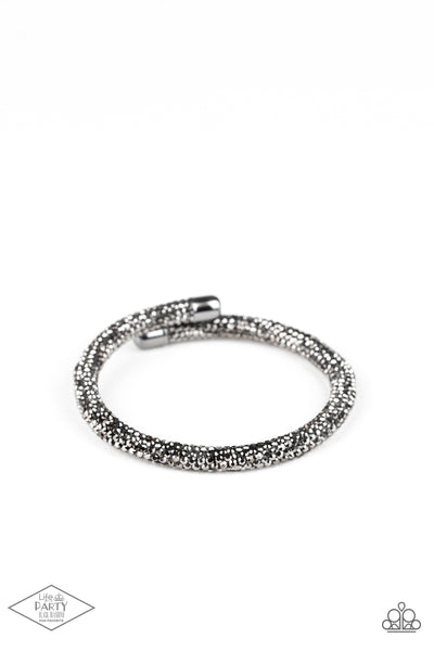 Paparazzi Stageworthy Sparkle - Black Coil Bracelet - Princess Glam Shop
