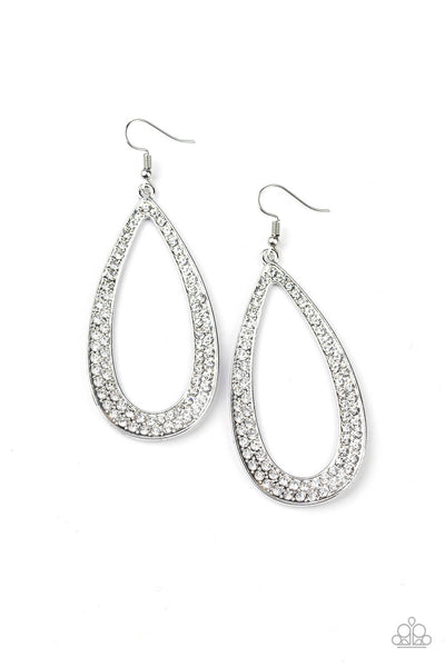 SOLD OUT Paparazzi Diamond Distraction - White Earrings - Princess Glam Shop
