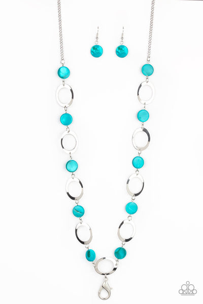Paparazzi SHELL Your Soul - Blue Lanyard Set - Princess Glam Shop