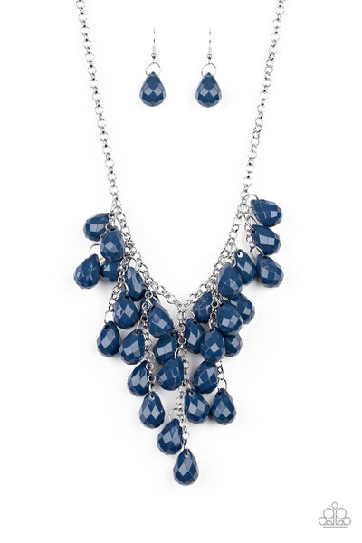 SOLD OUT Paparazzi Serenely Scattered - Blue Necklace Set - Princess Glam Shop