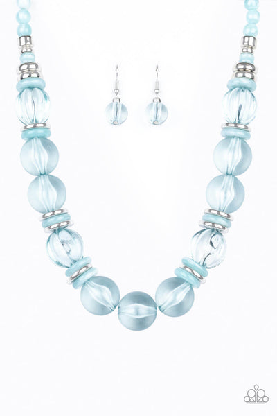 Paparazzi Bubbly Beauty - Blue Necklace Set - Princess Glam Shop