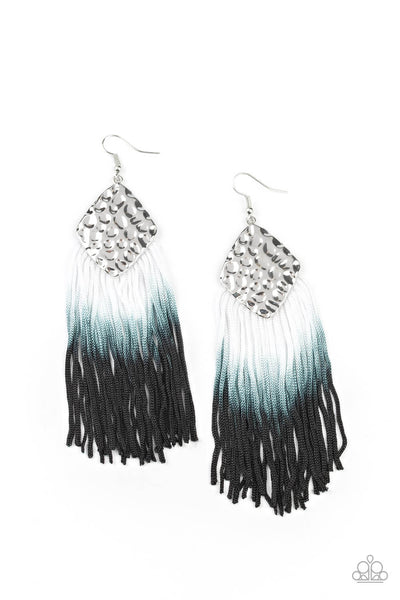 SOLD OUT Paparazzi Dip In Black Ombre Fringe Earrings - Princess Glam Shop