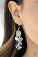 Paparazzi Do Chime In - Silver Earrings - Princess Glam Shop