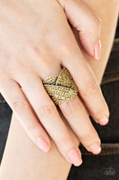 Paparazzi Scandalous Shimmer - Brass Ring - Princess Glam Shop