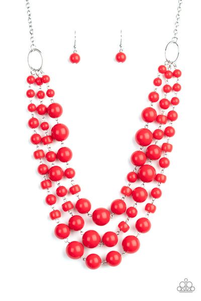 Paparazzi Everyone Scatter! - Red Necklace Set - Princess Glam Shop