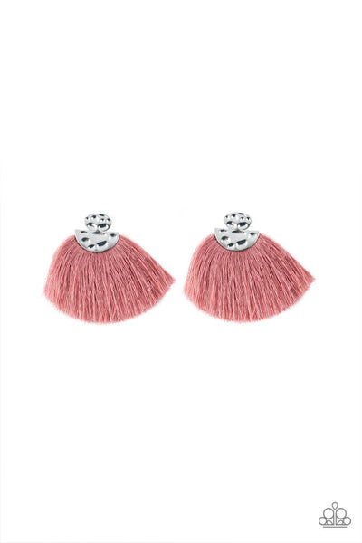 Paparazzi Make Some PLUME - Pink Fringe Earrings - Princess Glam Shop