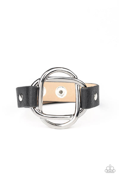 Paparazzi Nautically Knotted - Black Bracelet - Princess Glam Shop