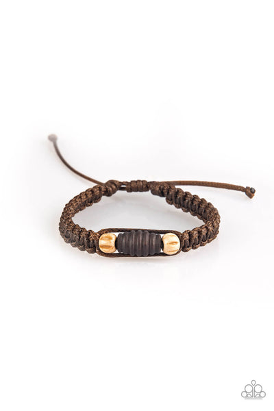 Paparazzi Tiki Traveler - Brown Bracelet - Princess Glam Shop