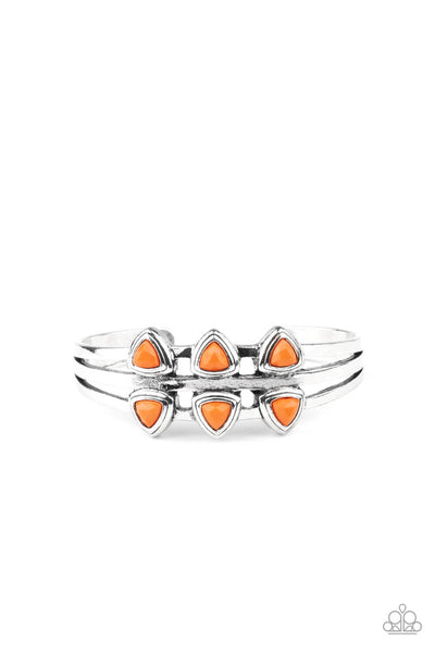 Paparazzi Tribal Triad - Orange Bracelet - Princess Glam Shop