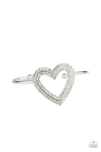 Paparazzi Heart Opener- White Bracelet - Princess Glam Shop