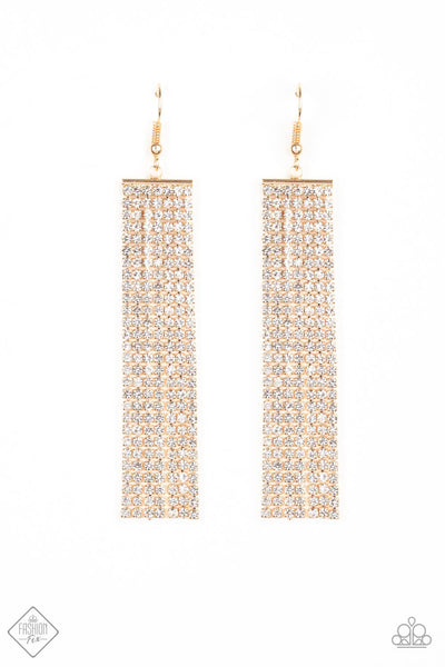 Paparazzi Top-Down Shimmer Earrings - Gold - Princess Glam Shop