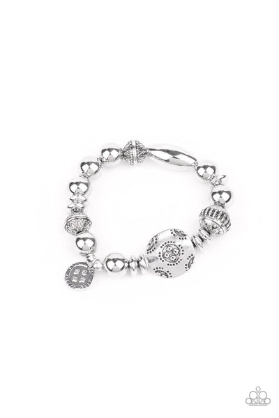 Paparazzi Aesthetic Appeal - Silver Bracelet - Princess Glam Shop