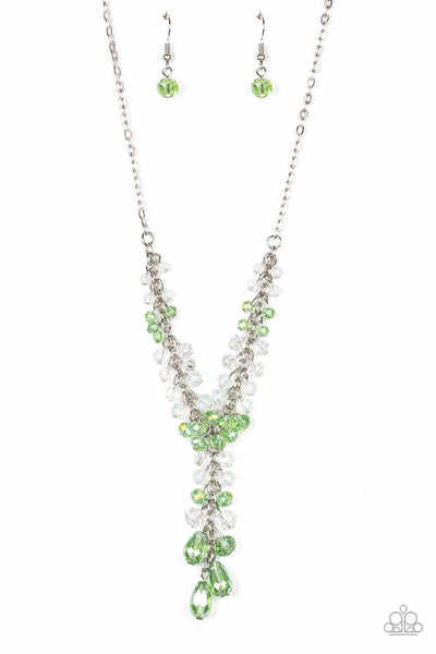 Paparazzi Iridescent Illumination - Green Necklace Set - Princess Glam Shop
