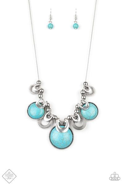 Paparazzi Elemental Goddess - Blue Turquoise Necklace Set & Bracelet Combo - Princess Glam Shop