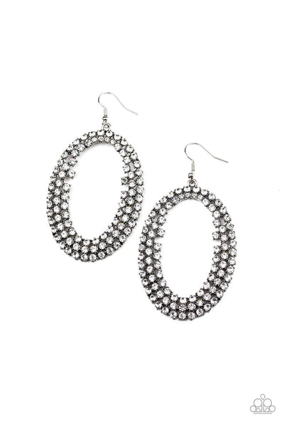 Paparazzi Radical Razzle - White Life of the Party Exclusive Earrings - Princess Glam Shop