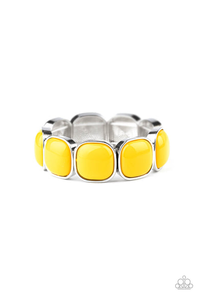 Paparazzi Vivacious Volume - Yellow Bracelet - Princess Glam Shop