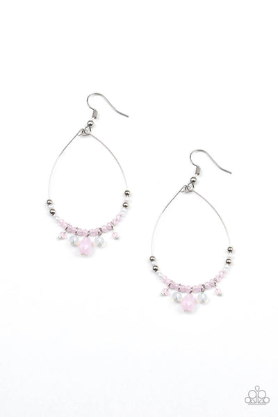 Paparazzi Exquisitely Ethereal - Pink Earrings - Princess Glam Shop