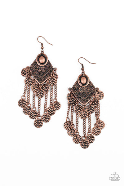 Paparazzi Garden Explorer - Copper Earrings - Princess Glam Shop