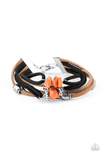 Paparazzi mountain rebel - orange Bracelet Set - Princess Glam Shop