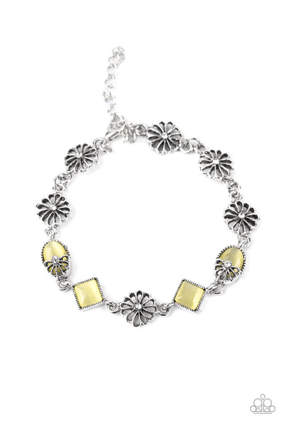 Paparazzi Eden Etiquette - Yellow Bracelet - Princess Glam Shop