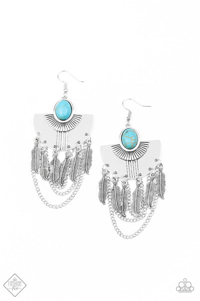 Paparazzi Sure Thing, Chief! Earrings - Blue - Princess Glam Shop