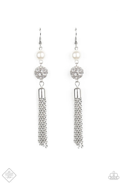 Paparazzi Going DIOR to DIOR Earrings - White - Princess Glam Shop