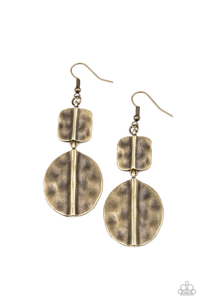 Paparazzi Lure Allure - Brass Earrings - Princess Glam Shop