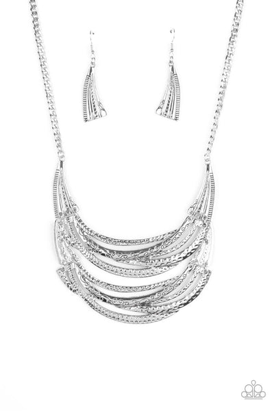 Paparazzi Read Between The VINES Silver Necklace Set LIFE OF THE PARTY EXCLUSIVE - Princess Glam Shop