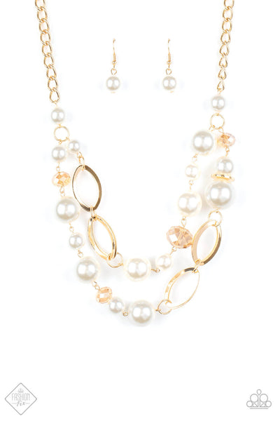 Paparazzi High Roller Status - Gold Necklace Set - Princess Glam Shop