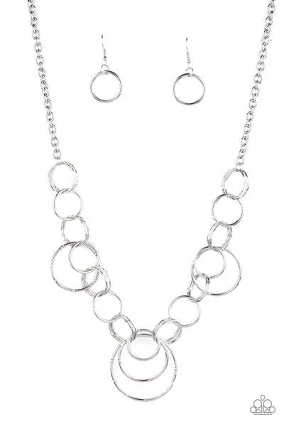 Paparazzi Ringing Relic - Silver Necklace Set - Princess Glam Shop