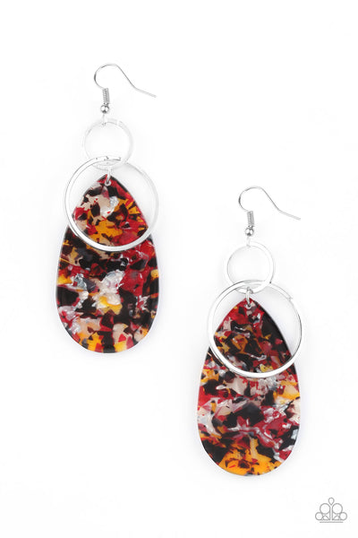 Paparazzi Two Tickets To Paradise - Multi Acrylic Earrings - Princess Glam Shop