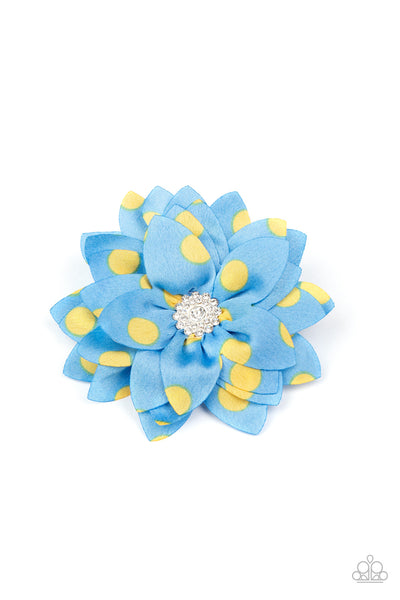 Paparazzi Silk Gardens - Blue & Yellow Hair Clip - Princess Glam Shop