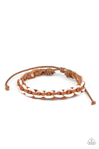 Paparazzi Rural Rules - Brown Bracelet - Princess Glam Shop