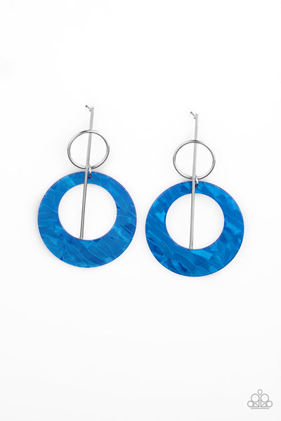 SOLD OUT Paparazzi Stellar Stylist - Blue Earrings - Princess Glam Shop