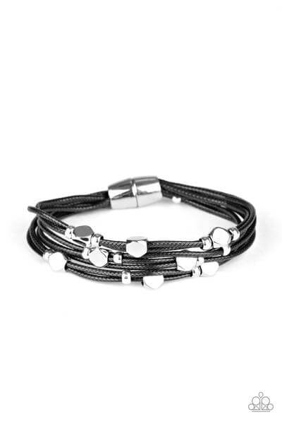 Paparazzi Cut The Cord - Black Bracelet Bracelet - Princess Glam Shop