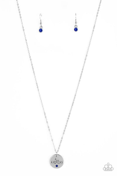 Paparazzi All American, All The Time - Blue Necklace Set - Princess Glam Shop