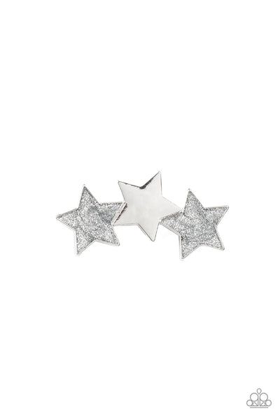 Paparazzi Don't Get Me STAR-ted!- Silver Star Hair Clip - Princess Glam Shop