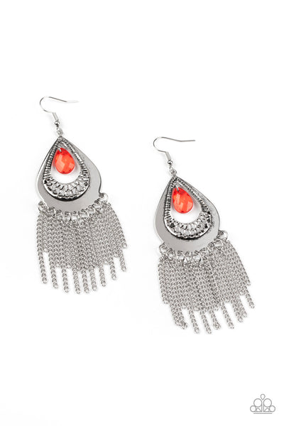Paparazzi Scattered Storms - Red Earrings - Princess Glam Shop