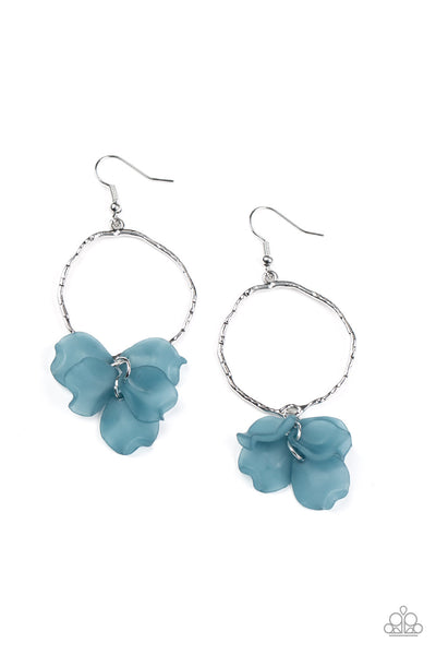 Paparazzi Petals On The Floor - Blue Earrings - Princess Glam Shop