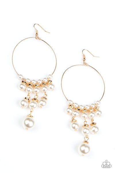 Paparazzi Working The Room - Gold Earrings - Princess Glam Shop
