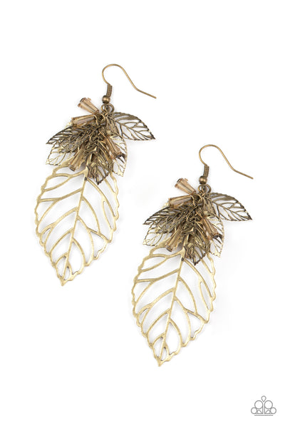 Instant Re-LEAF - Brass Earrings - Princess Glam Shop
