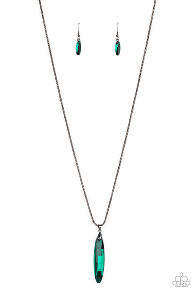 Paparazzi Meteor Shower - Green Necklace Set - Princess Glam Shop