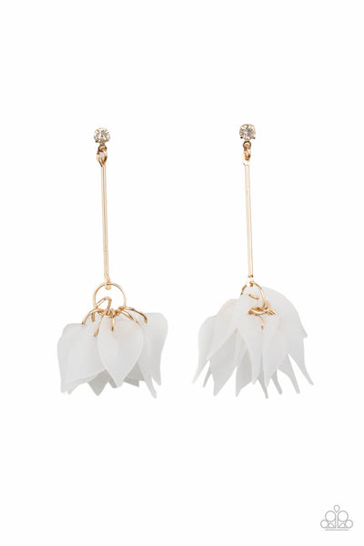 Paparazzi Suspended In Time - Gold Earrings - Princess Glam Shop